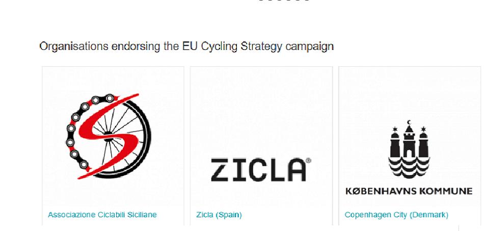 Zicla dóna suport a la Estratègia Ciclista de la Unió Europea.