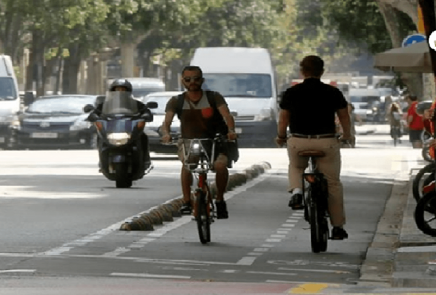 Carril bici a Barcelona