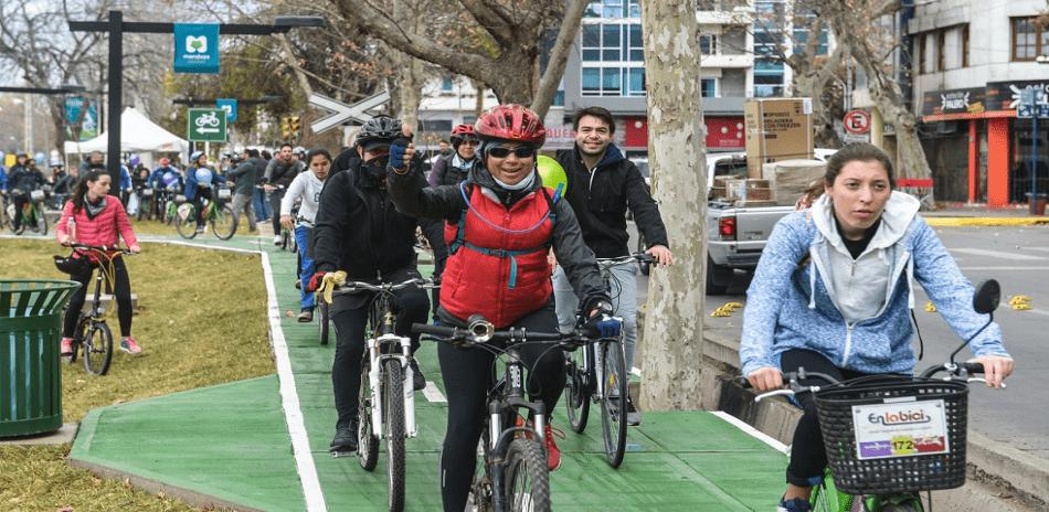 bicicletada a la ciclovía de mendoza