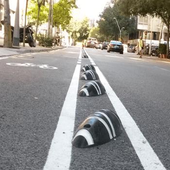 desdoblamiento de los carriles bici, calle parís