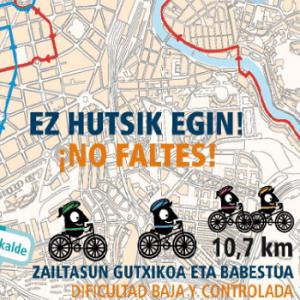 paseo popular en bicicleta por bilbao