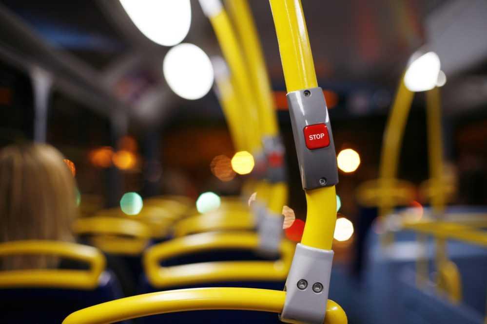 Interior de un autobus.