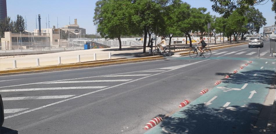 carriles bici segregados