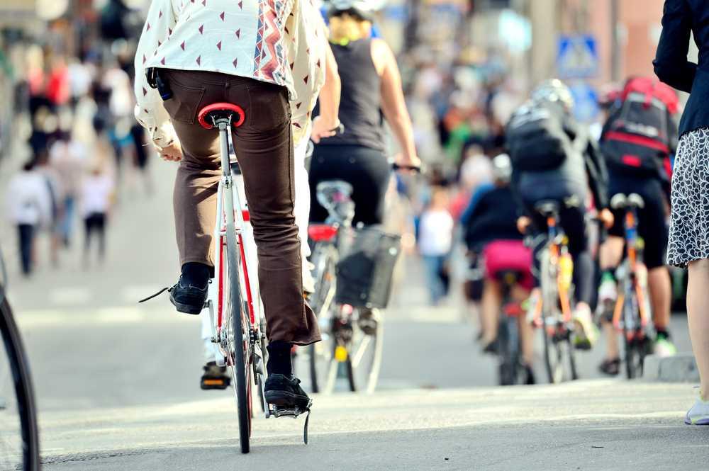 ir en bicicleta por ciudad