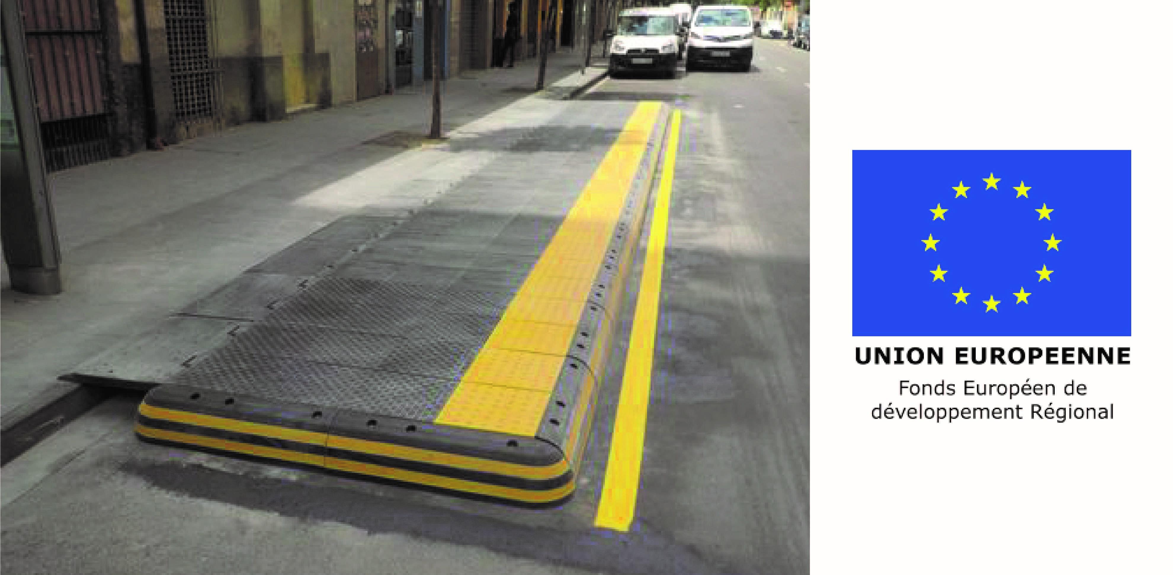 Le FEDER finance des projets d'amélioration de l'accessibilité aux arrêts de bus.